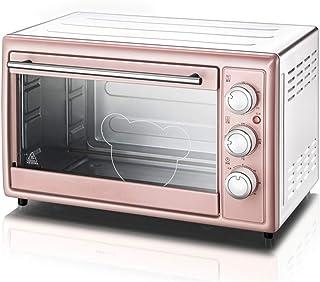 Toaster oven STBD-Horno doméstico multifunción con Bandeja para Hornear, Red a la Parrilla, Bandeja para Migas y Soporte para Bandeja, 30L, 1600W, Rosa