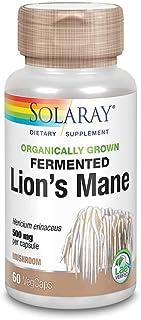 Solaray Lion's Mane Mushroom Organically Grown 500 mg VCapsules | 60 Count