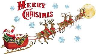 Collections Etc Santa's Sleigh Garage Door Magnets Outdoor Decoration - Merry Christmas