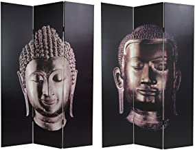 Oriental Furniture 6 ft. Tall Double Sided Buddha Canvas Room Divider