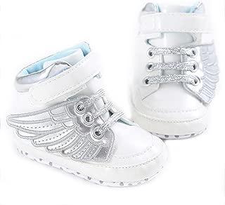 Infant Baby Girls Boys Angel Wings Soft Sole Prewalker Toddler Sneaker Shoes