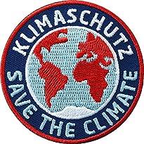 2 x Aufnäher Save the Climate - Klimaschutz 6 cm