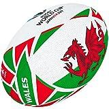 Gilbert World Cup Japan Wales Flag Ball Ballon Coupe du Monde de Rugby Japon 2019 Drapeau du Pays de Galles Mixte, Multicolore, 5