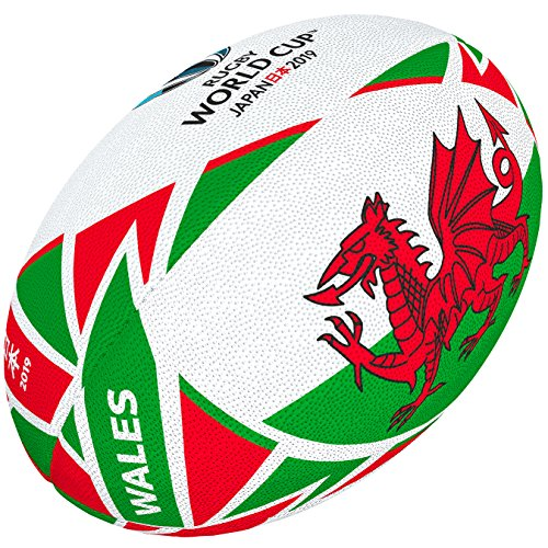 Gilbert Rugby World Cup Japan 2019 Wales Flagge Ball 5 Mehrfarbig
