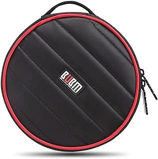 BUBM Portable Polyester CD/DVD Wallet 32 Disc Capacity Storage Carrying Case Bag Protector Organizer (Black)