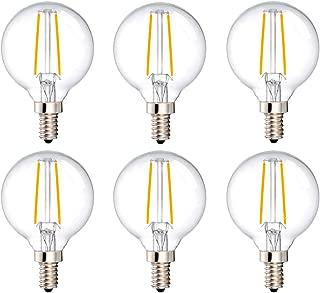 MRDENG LED Dimmable Light Bulbs 40 Watt Replacement Candelabra Bulbs,G16.5/G50 3.5-Watt(40-Watt Equivalent) Energy Saving LED Bulb,E12 Socket,Warm White Globe Light Bulb (2700K) Pack of 6