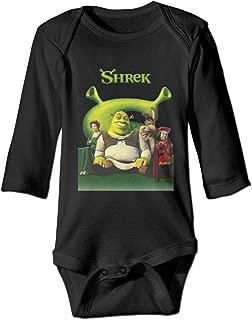 Ayaateg Shrek 6M-2t Unisex Kids Long Sleeve Baby Onesie Black