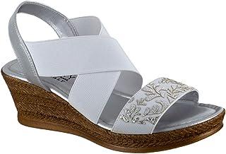 Easy Street Women's Wedge Sandal, Silver, 6 X-Wide