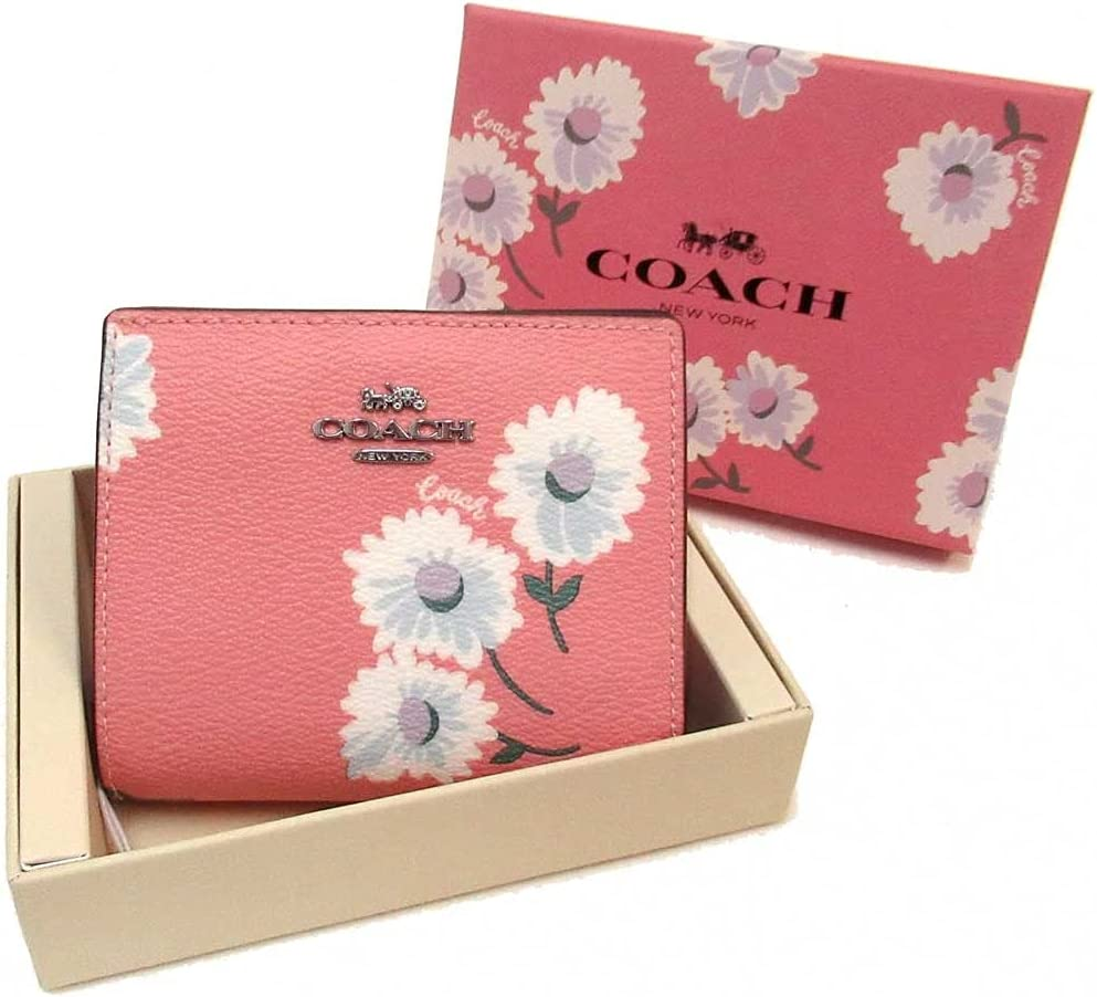 Coach Women's Boxed Memphis Mall Snap Wallet Max 69% OFF Daisy With Print