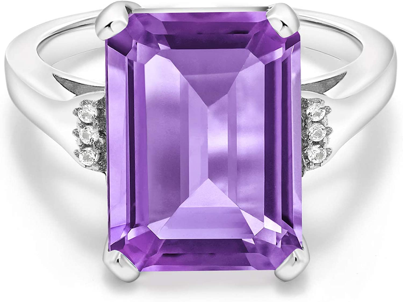Opening large release sale Gem Stone King 925 Sterling Popular popular Women's Engag Amethyst Silver Purple