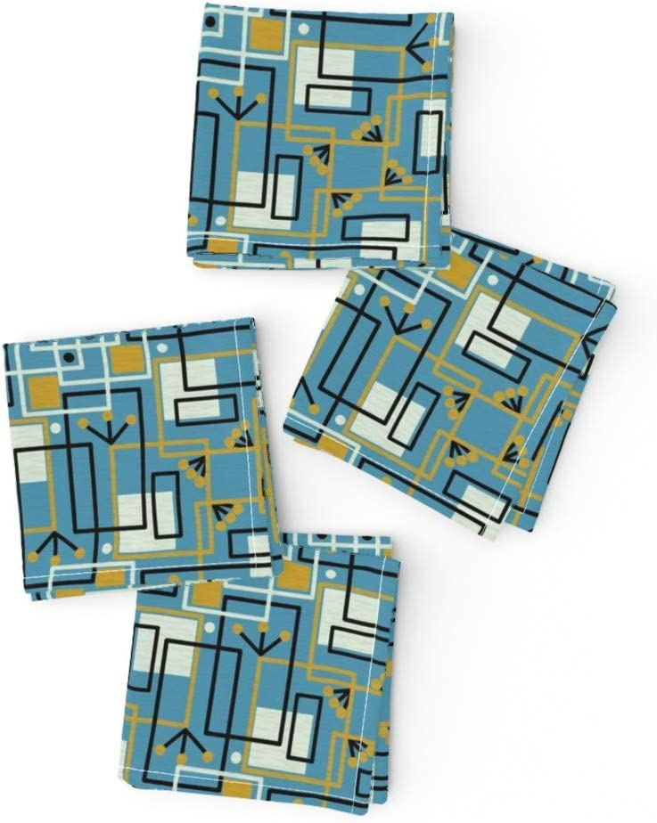 Classic Roostery Spoonflower Cloth Cocktail Century Modern Napkins Dealing full price reduction Mid