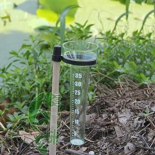 WBMKH Pluviometro Singolo Esterno da Giardino Record di osservazione delle precipitazioni Piccolo Bastoncino di Legno Che ...
