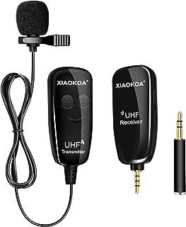 میکروفون بی سیم Lavalier Lapel ، میکروفون ضبط همه کاره UHF حرفه ای با میکروفون Lapel Clip-on سازگار با iPhone ، Ipad ، تلفن های هوشمند Android ، DSLR ، برای ضبط ویدئو ، YouTube ، مصاحبه ، زنده