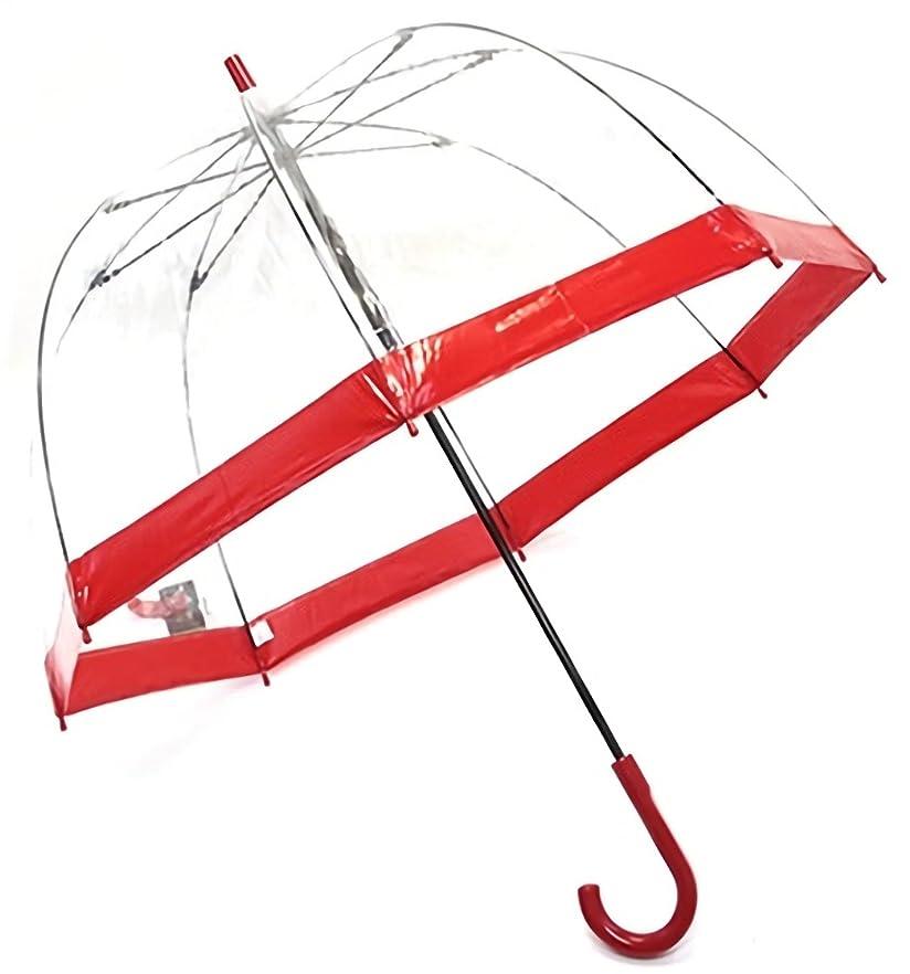 つぶす秘密の予感フルトン L041 020517 Birdcage-1 Red バードケージ ビニール傘 長傘 エリザベス女王ご愛用モデル 鳥かごのようなドーム型のフォルムが魅力的なアンプレラ [並行輸入品]