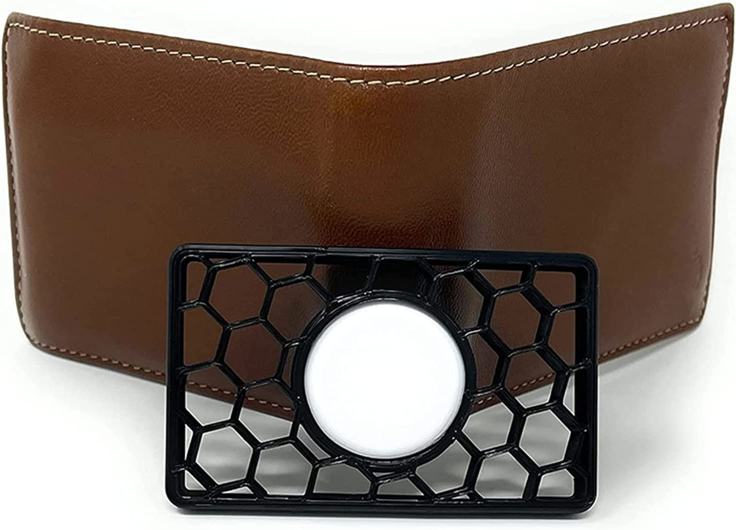 JZENZERO Wallet Case Compatible with AirTag Credit Card-Sized Holder for Wallet Clutch Wristlet