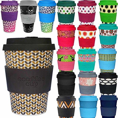 LS-LebenStil Bambus Coffee to Go Becher 355ml Threadneedle Braun Ecoffee Cup