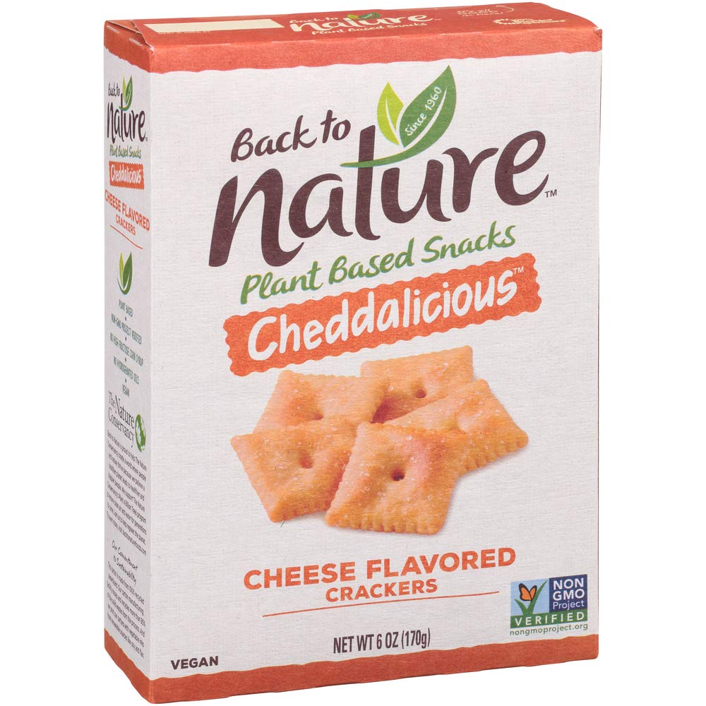 Back to Nature New mail order Crackers Austin Mall Cheddalicious 6 Non-Gmo Oz