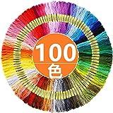 [ヤクニタツ] 100色x100束 刺繍糸 カラフル 縫い糸 手芸用糸 刺しゅう糸 初心者 高質量 多色鮮やかな縫い糸 クロスステッチ 刺繍セット 刺繍系 ミサンガ