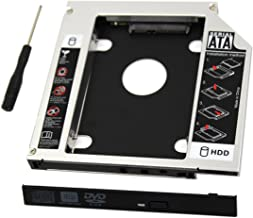 SATA Hard Drive Tray,Universal 9.5mm SATA to SATA 2nd SSD HDD Hard Drive Caddy Adapter Tray Enclosures for DELL HP LENOVO ThinkPad ACER Gateway ASUS SONY SAMSUNG MSI Laptop By Best shop 2016