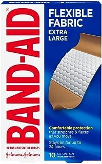 پارچه های چسبنده باند مارک Band-Aid ، پارچه منعطف ، فوق العاده بزرگ ، 10 عدد (بسته 2)