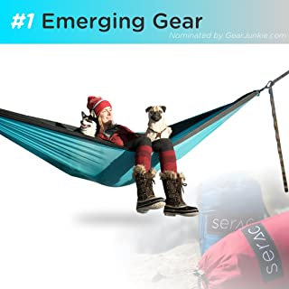 featured product Serac [Premium Double Hammock & Strap Bundle Sequoia XL Portable Double Camping Hammock with Ripstop Nylon and Quick-Hang Suspension System