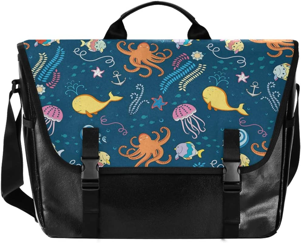 Octopus Unisex Casual Canvas Satchel Bag Messenger Waterproof Free Shipping New fo Louisville-Jefferson County Mall