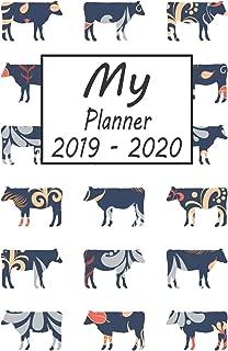 My Planner 2019 - 2020: Cow Pattern Weekly Planner 2019 - 2020: 24 Month Agenda - Calendar, Organizer, Notes, Goals & To Do Lists