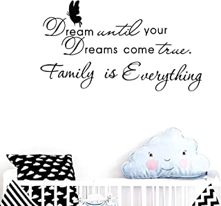Dream Until Your Dreams Comes True Scripture Words Wall Decal Stickers Kitchen Room Bedroom Vinyl Quotes Decor Letters Boys Nursery Kids Quote