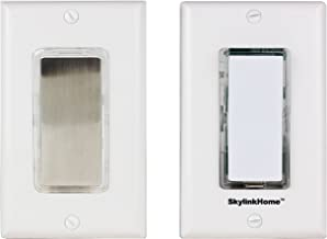 SK-7A Wireless DIY 3-Way Dimmable On Off Anywhere Lighting Home Control Dimmer Wall Switch Set with Snap On Cover, no neutral wire required.