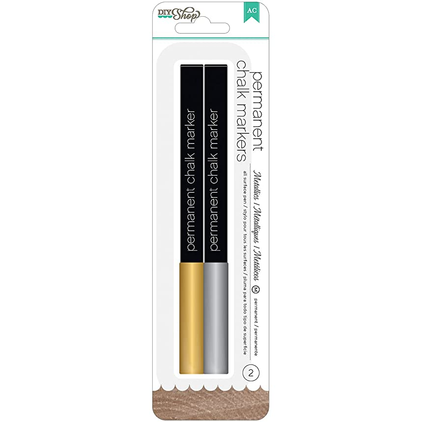 American Crafts DIY Chalk Markers Medium Point, Gold/Silver