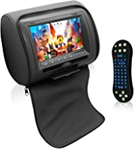Pyle Car Seat Headrest Dd TV Display Monitor 7 Inch Widescreen with Remote Control, Built In DVD Player, USB/ SD Reader, FM & IR Transmitter for Travel with Movie/ Video, TV, Games - PL74DBK