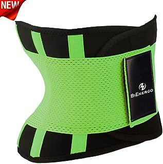 Bienergo Waist Trimmer Trainer Belt for Women Men Weight Loss Neoprene Sweat Workout Slimming Body Shaper Sauna Exercise Back Support Sports Girdle Belt