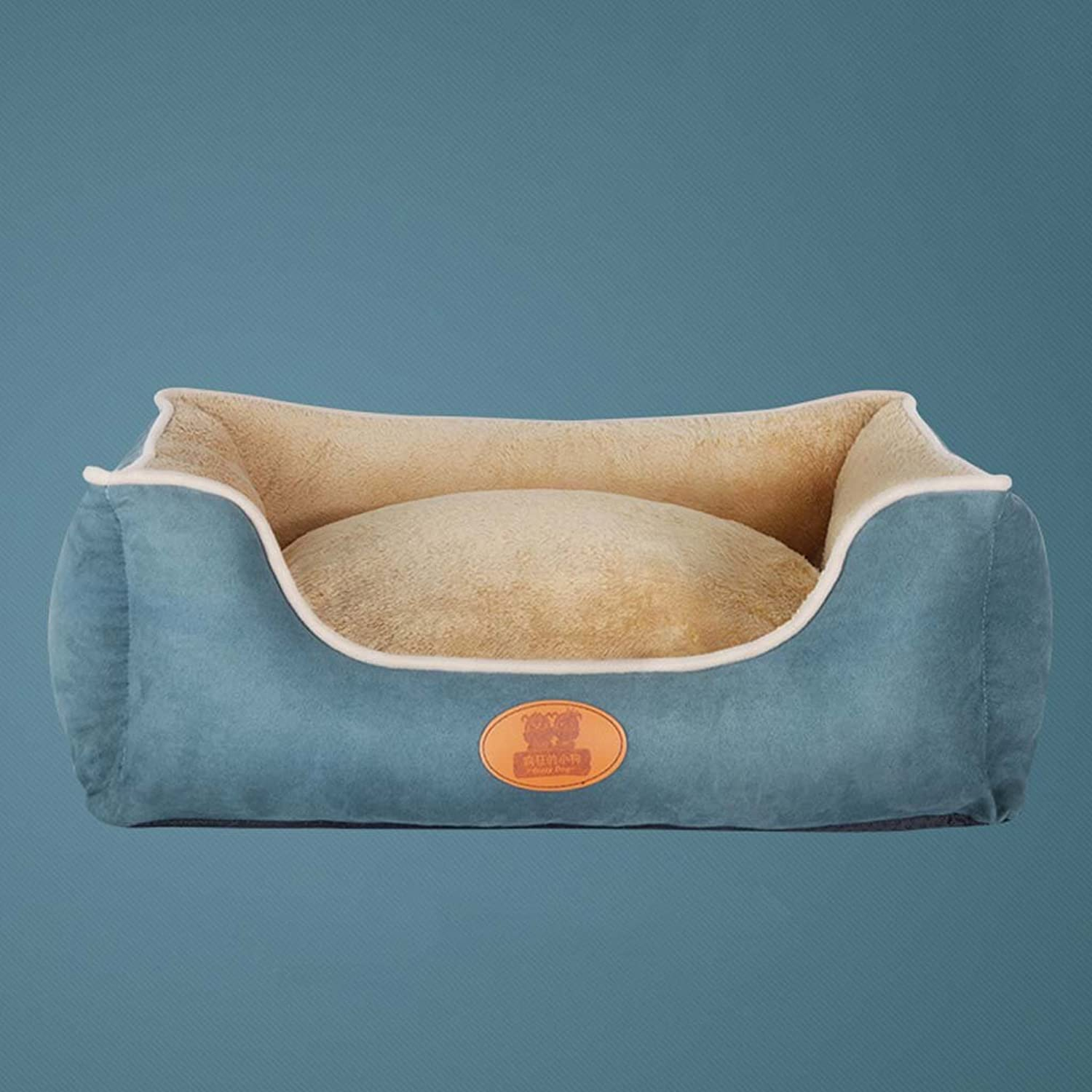 Dog's Bed, Plush Memory Foam Waterproof Dog Beds, Eases Pet Arthritis&Warm Pet Mattress, Washable Covers,Quality Durable Oxford Fabric,bluee,XL
