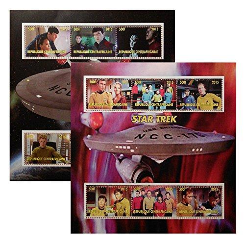Star Trek Original Series & Reboot Filme 2015Briefmarken 6Wert Perf und imperf 2sheetlet Set MNH ukpost Geschenk