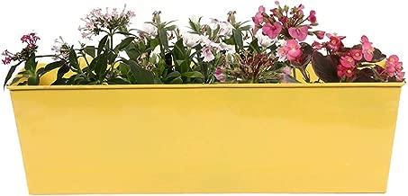 Gadgets Appliances Wonderful Colour Rectangular Design, Railing Planter, Flower Pot, Wall Planter, Metal Planter, Balcony, Garden Planter Basket (Yellow)