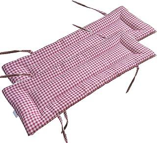 YINGLUO 2 cojines de banco de jardín de 2 a 3 plazas, cómodos cojines de silla de banco de 87/100/120 cm, cojín antideslizante para asiento de banco para interiores y exteriores, cocina, comedor