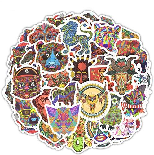SUNYU Totem Stickers Funny Toys Graffiti Animals Ethnic Tribal Mask Tattoo Decals Sticker DIY Laptop Skateboard Car Travel Case 50 Pcs