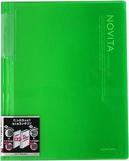 コクヨ ファイル クリアファイル ノビータ 固定式 A4 20ポケット ライトグリーン ラ-N20LG