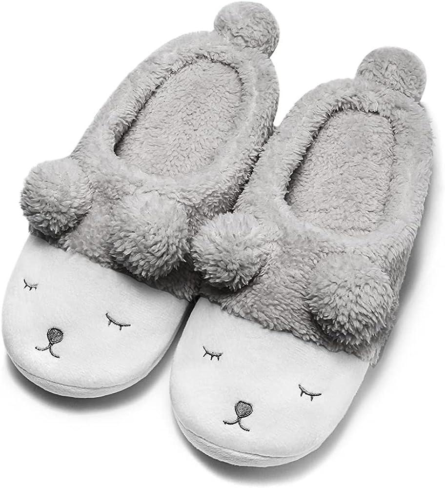 GaraTia Warm Indoor San Francisco Mall Slippers for Bedroom Fleece Plush Wint Women Ranking TOP17