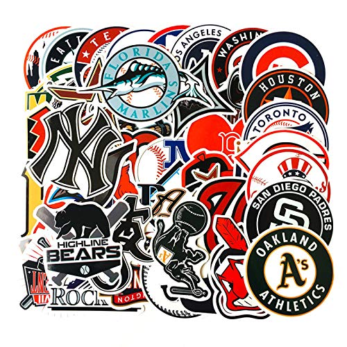 WYZNB 50 pegatinas de dibujos animados de moda de los atletas del club de béisbol Boston Graffiti Trolley caso casco pegatinas cuaderno