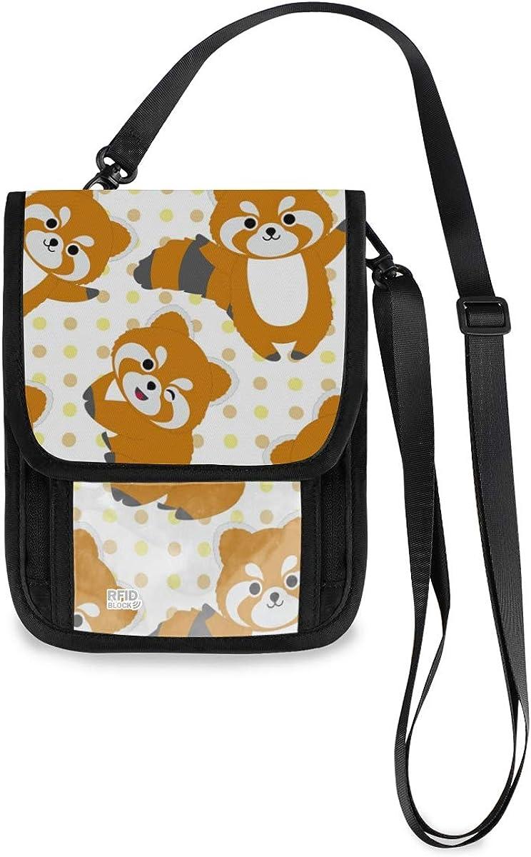 RFID Blocking New life Travel Neck Wallet - High quality new Cute Passport Raccoon Holder