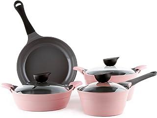 Neoflam Eela 7 Piece Ceramic Nonstick Cookware Set in Pink
