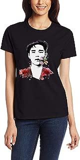 Womens Dean Kpop Art Black T Shirt