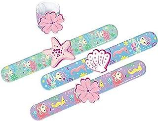 """Amscan 3900105 Mermaid Slap Bracelet, 1 1/8"""" x 8 3/4"""", Assorted"""