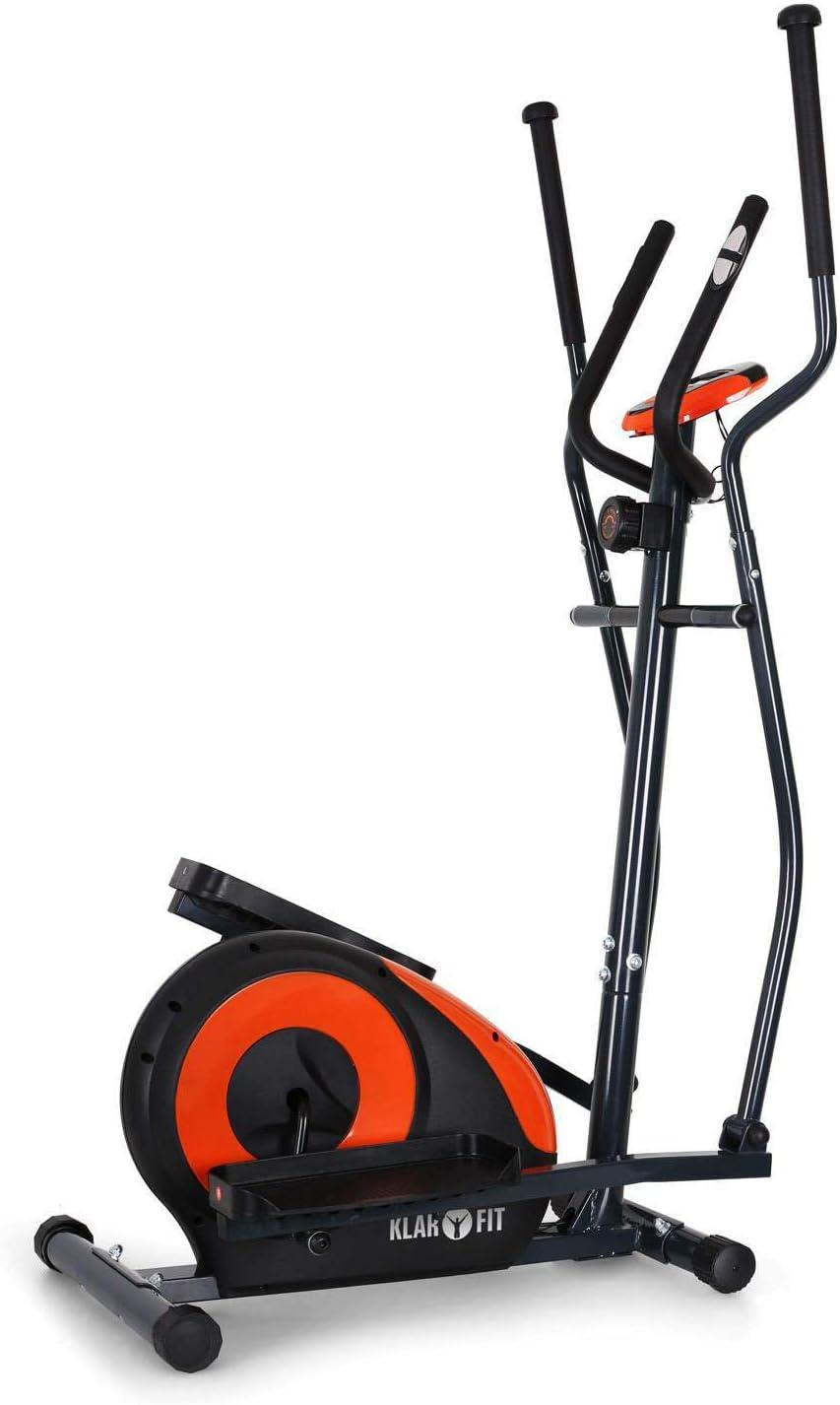 KLAR FIT Klarfit Ellifit FX 250 - Bicicleta de Cardio elíptica, 8 resistencias, Ordenador de Entrenamiento, Pulsómetro, Soportes Antideslizantes, hasta 110 kg, Set de Montaje