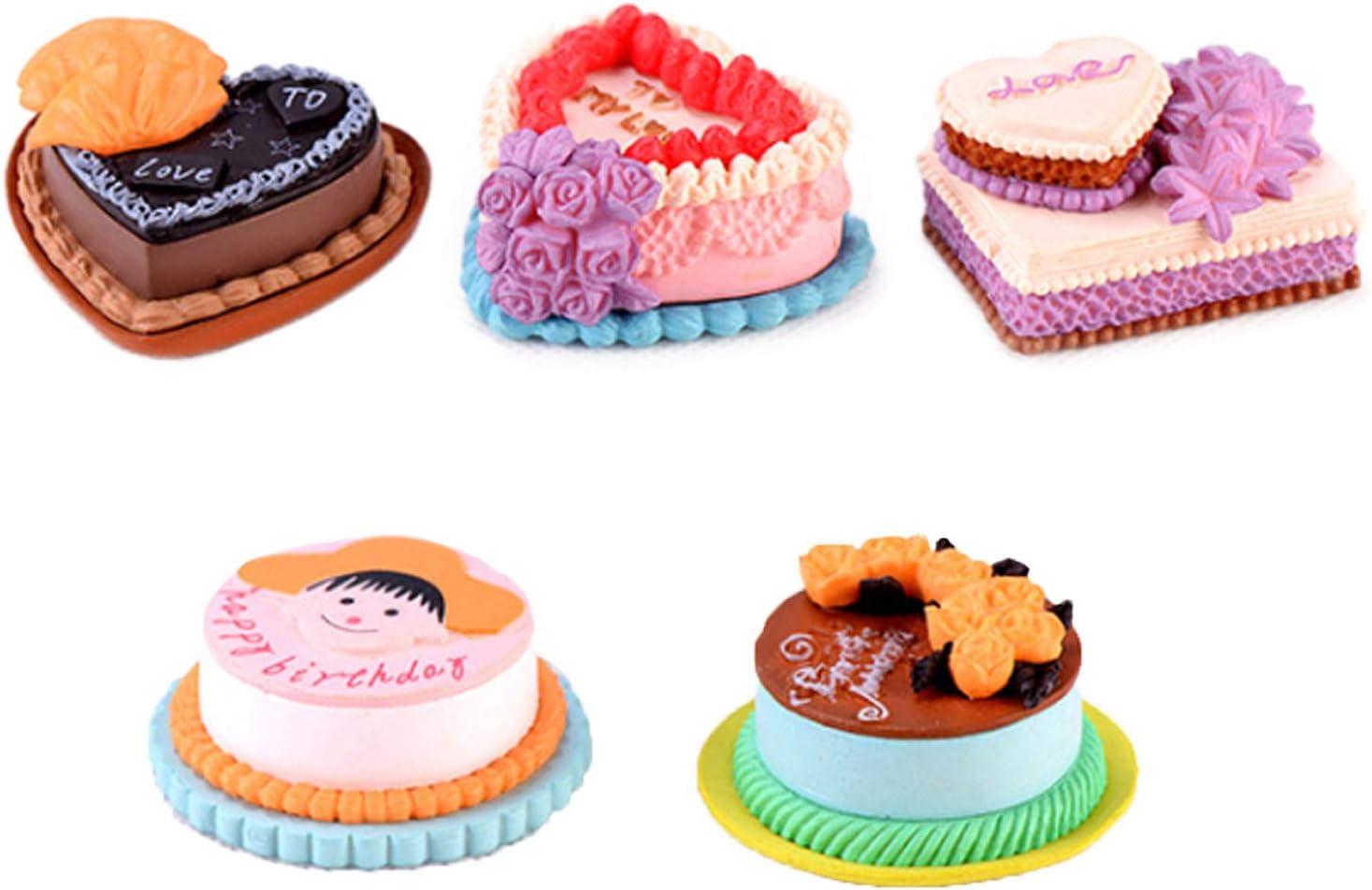 Max 44% OFF Outlet sale feature ERANCE 5 Pcs Cake Food Miniature Dollhouse