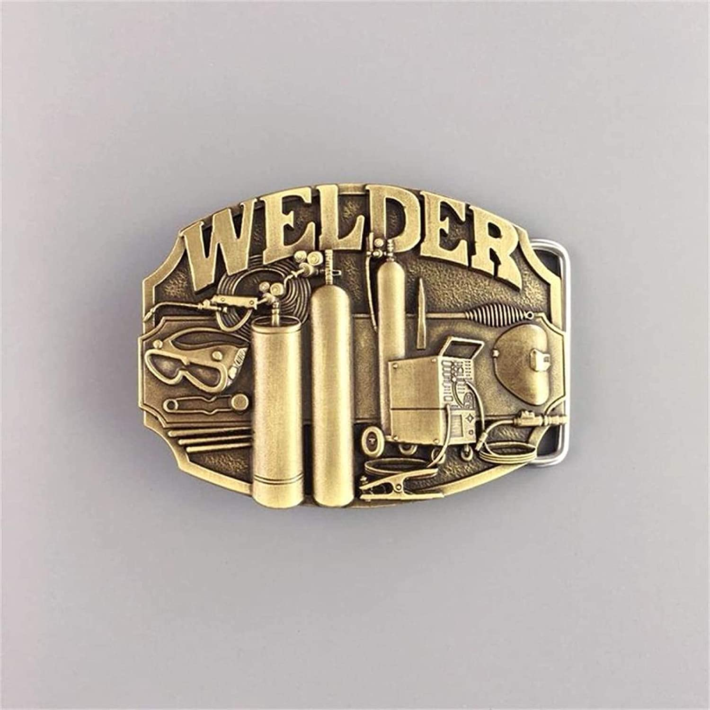 Surprise price Vintage Bronze Plated Mechanic Detroit Mall Belt Buckle Womens