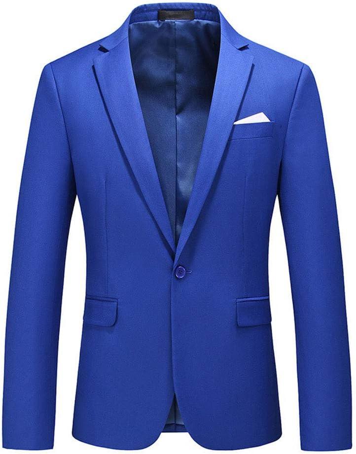 WCNMD Men's Casual Blazer Jacket, Men's Professional fit Suit, Gentleman's Suit, one Button blazer-C3-5X-Large