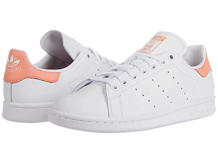 adidas Originals  Stan Smith (Footwear White/Footwear White/Chalk Coral) Womens Tennis Shoes
