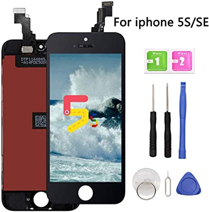 Screen Replacement for iPhone 5s-SE Black LCD Display Touch Screen  Digitizer Replacement Full Assembly f6b83ccc43